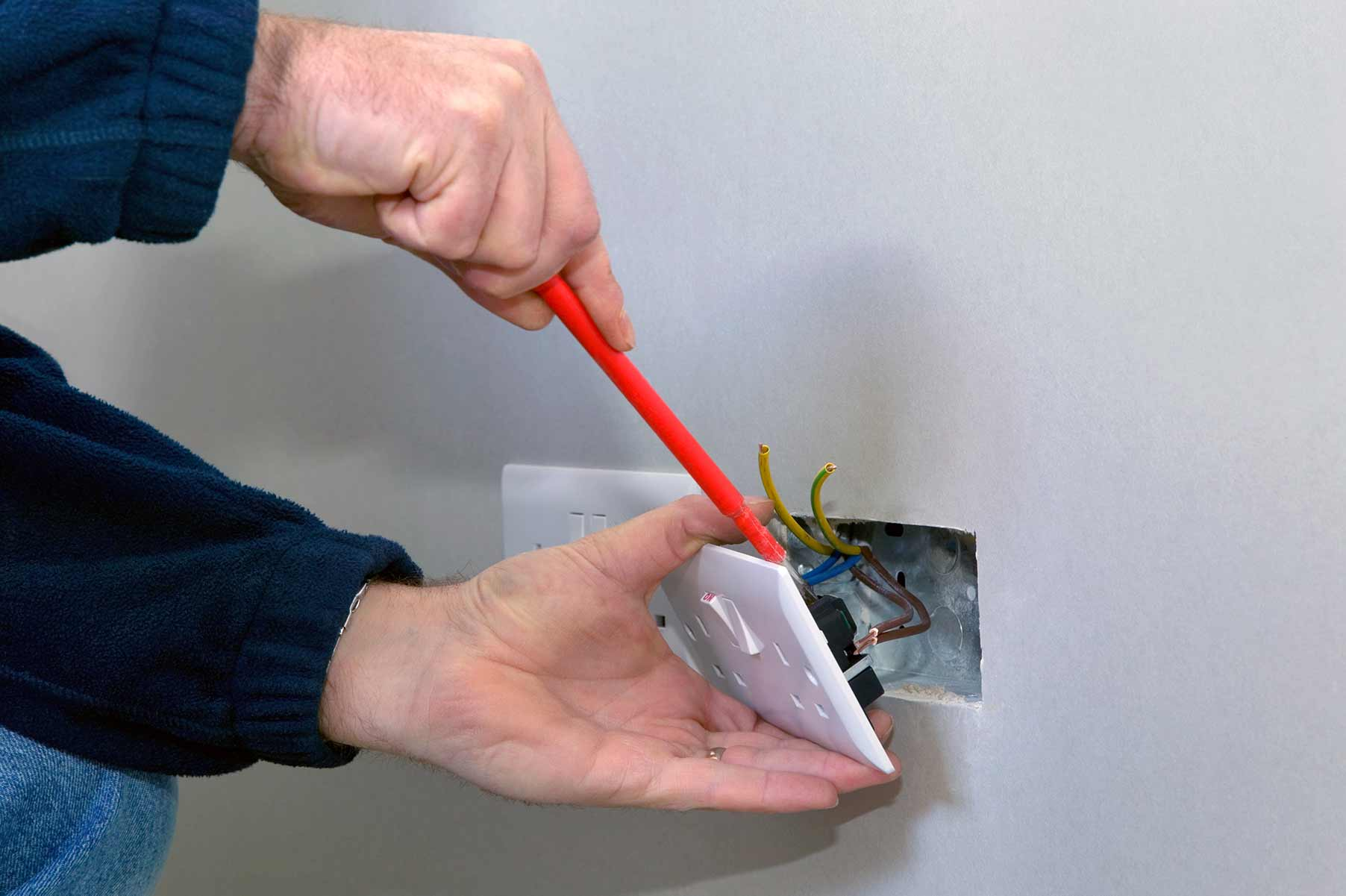 Our electricians can install plug sockets for domestic and commercial proeprties in Pitsea and the local area.